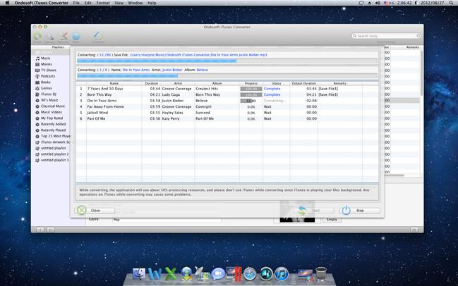 Audio Software, Ondesoft iTunes Converter Screenshot