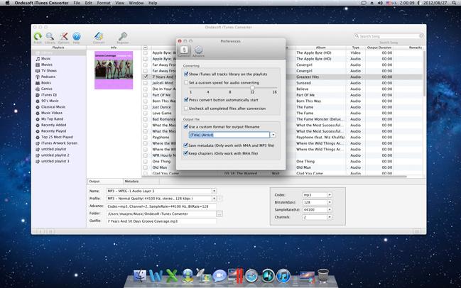 Ondesoft iTunes Converter, Audio Conversion Software Screenshot