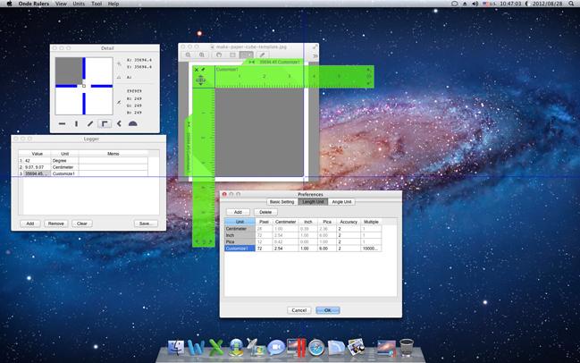 Measurement Software, Ondesoft Screen Rulers for Mac Screenshot