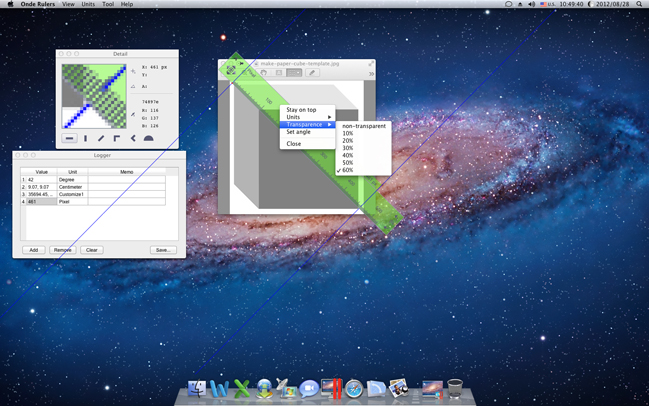Design, Photo & Graphics Software, Ondesoft Screen Rulers for Mac Screenshot