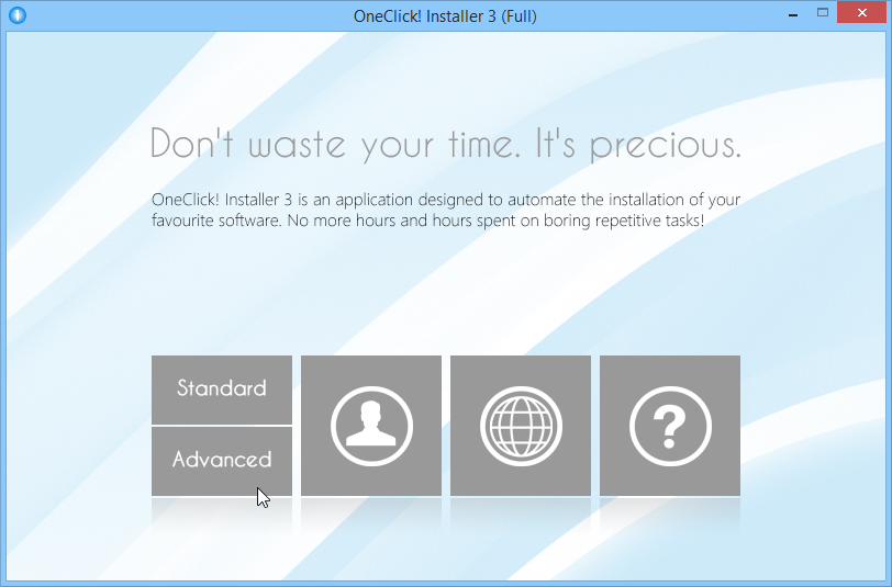 OneClick! Installer 3 (Full), Other Utilities Software Screenshot
