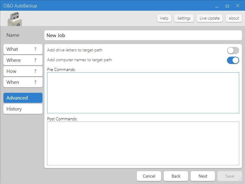 O&O AutoBackup Screenshot