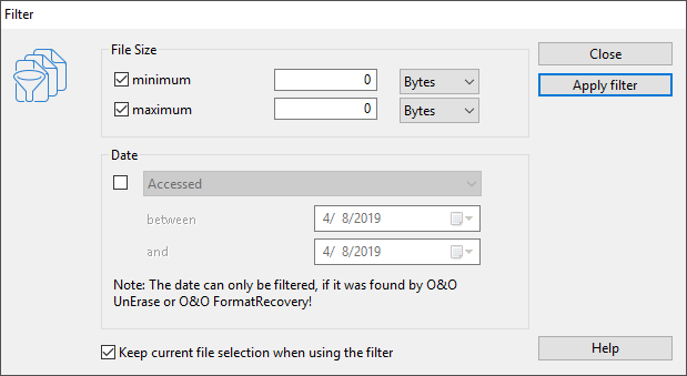 O&O DiskRecovery, Recovery Software Screenshot