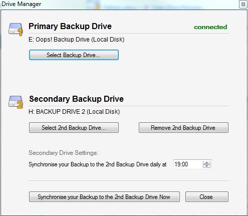 Backup Files Software, Oops!Backup Screenshot
