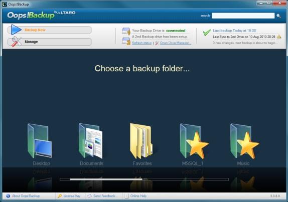 Oops!Backup Screenshot