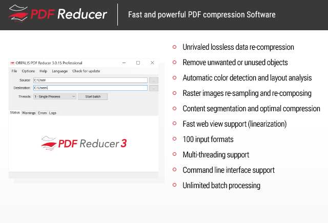 ORPALIS PDF Reducer Professional Edition Screenshot