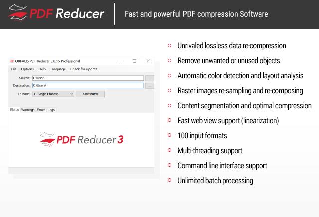 ORPALIS PDF Reducer Professional Edition Screenshot