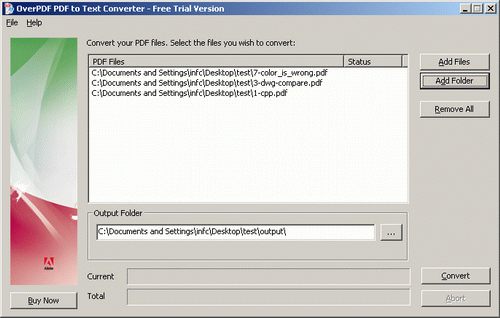 OverPDF, PDF Conversion Software Screenshot