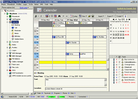 Oxygen Phone Manager II - Organization Software Download for PC
