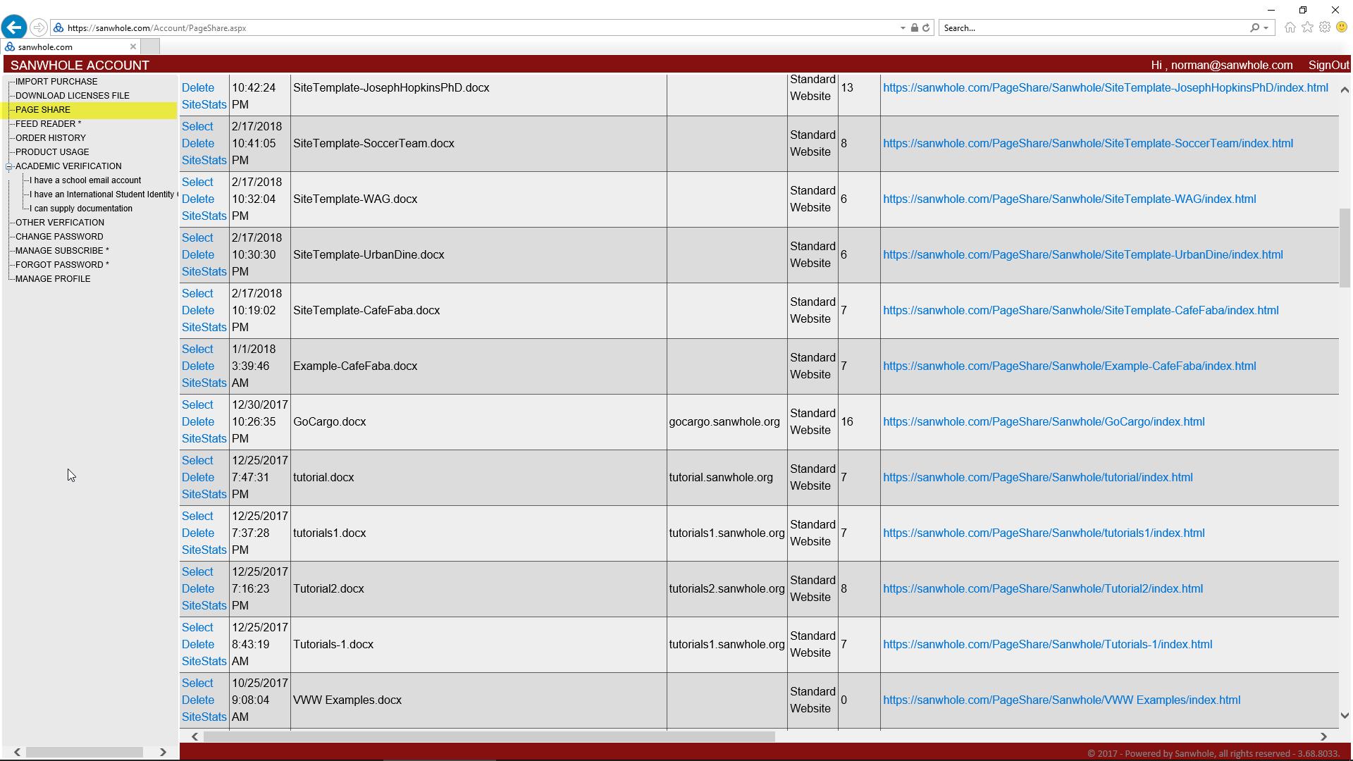 Website Scraping Software, PageShare Web Hosting 2X3 - 2 websites 3 years web hosting Screenshot