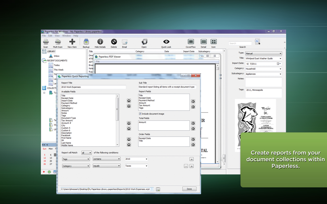 Document Management Software Screenshot
