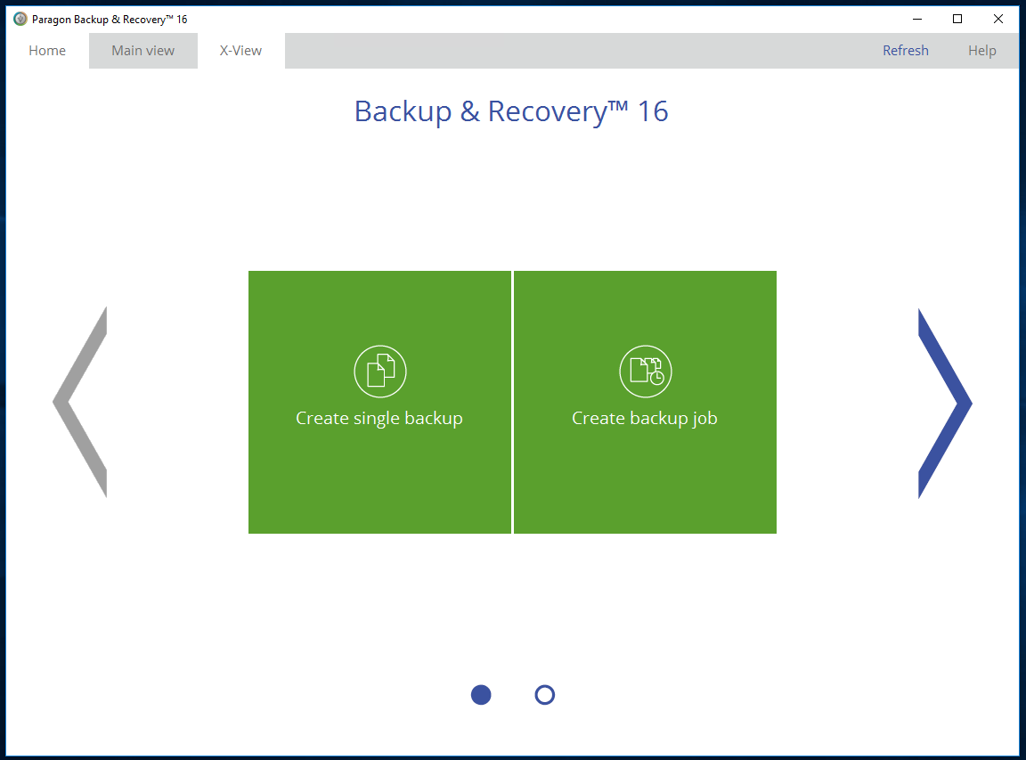 Security Software, Paragon Backup & Recovery Screenshot