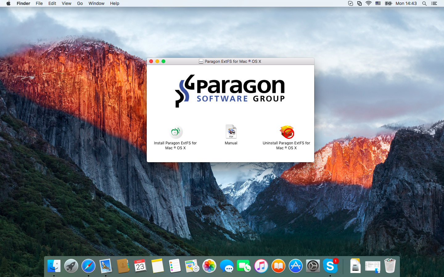 Hard Drive Software, Paragon ExtFS for Mac 11 Screenshot