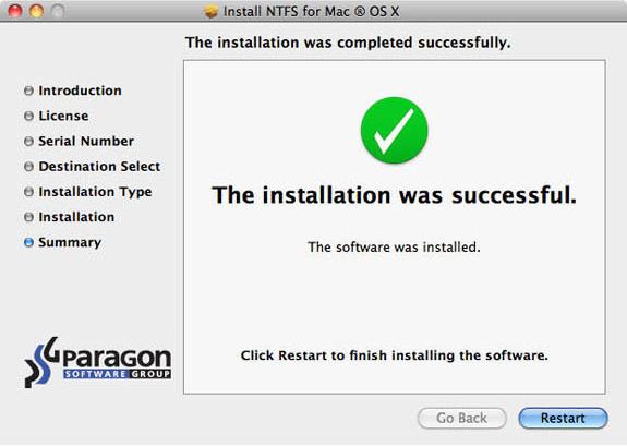 Paragon Mac Bundle: NTFS for Mac 14 and HFS+ for Windows 10, Software Utilities Screenshot