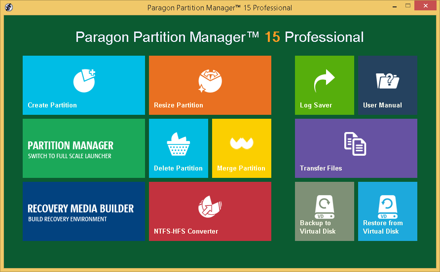 Paragon Partition Manager Professional Screenshot