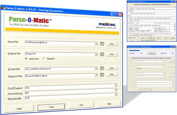Parse-O-Matic Advanced Edition, Software Utilities Screenshot