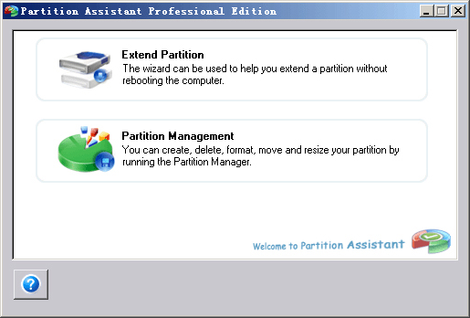 Partition Assistant Professional Edition Screenshot