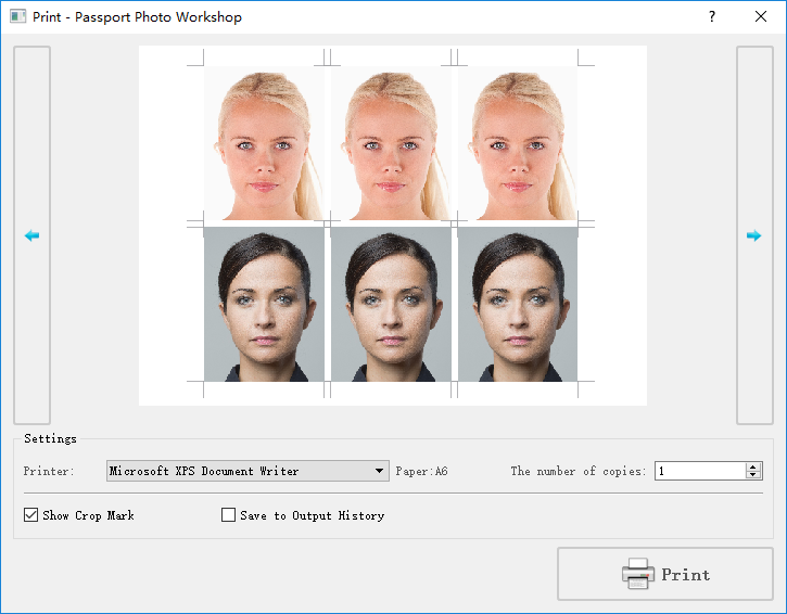 Passport Photo Workshop - Professional Edition, Photo Editing Software Screenshot