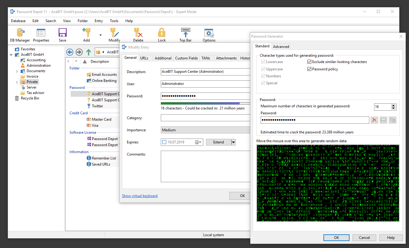 Password Depot, Security Software Screenshot