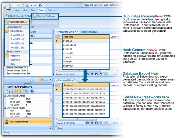 Security Software, Password Generator 2009 Professional Screenshot