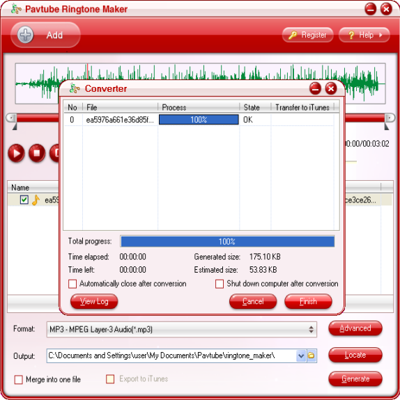 Pavtube Ringtone Maker Screenshot