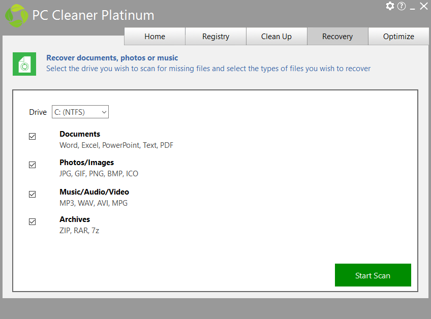 PC Cleaner from PC HelpSoft, Software Utilities Screenshot