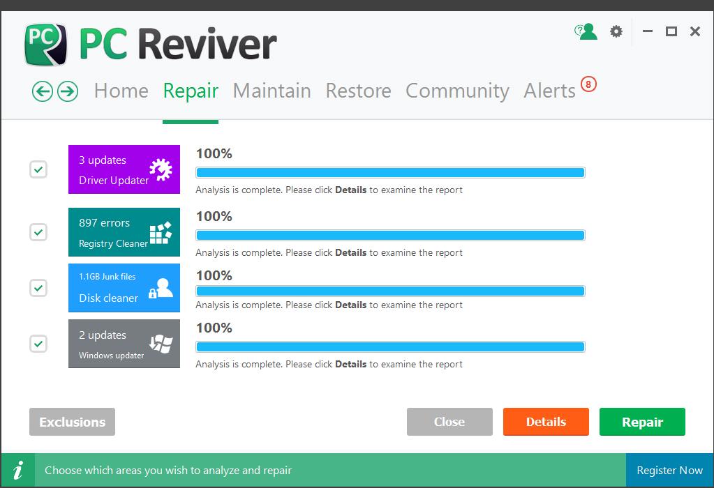 PC Reviver, Software Utilities Screenshot