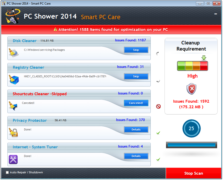 PC Shower 2014 Screenshot