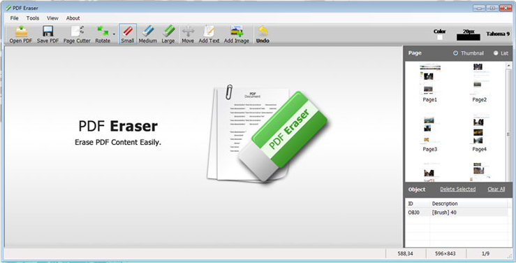PDF Eraser PRO Screenshot