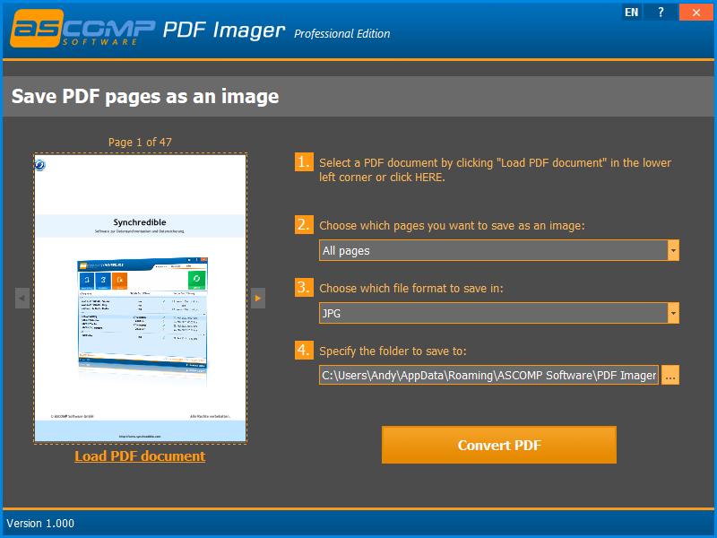 PDF Imager Screenshot