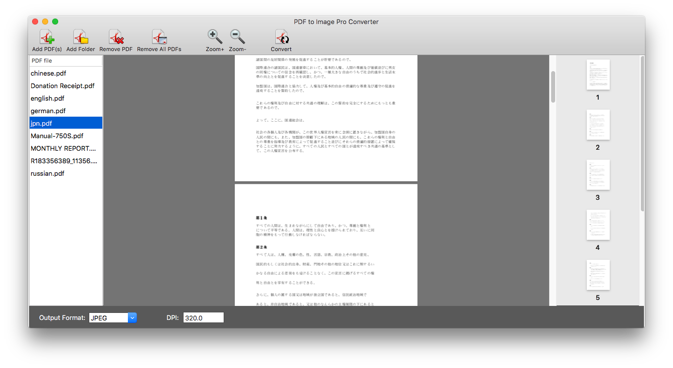 PDF Imagic Converter, PDF Conversion Software Screenshot