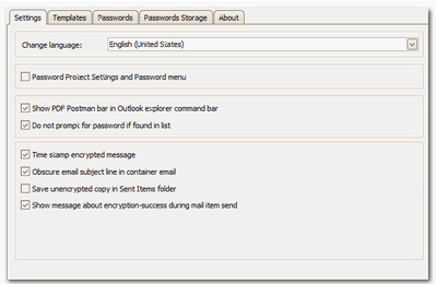 PDF Postman for Outlook, PDF Utilities Software Screenshot