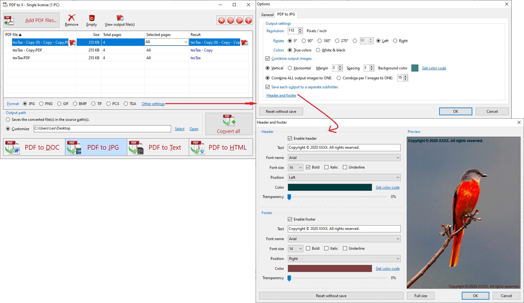 PDF to X Screenshot