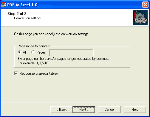 PDF-to-Excel, Word Processing Software Screenshot