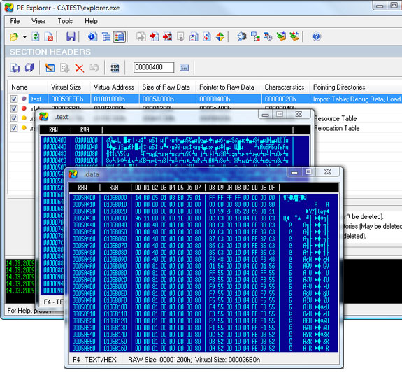 PE Explorer, Development Tools Software Screenshot