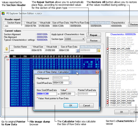 PE Explorer, Development Software Screenshot