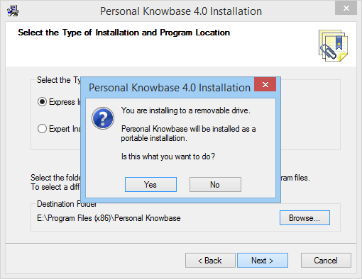 PIM Software, Personal Knowbase Screenshot