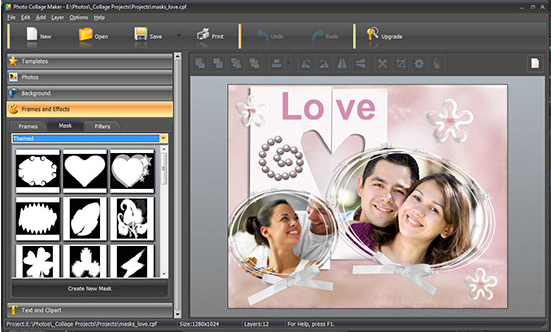 Photo Collage Maker PRO, Design, Photo & Graphics Software Screenshot