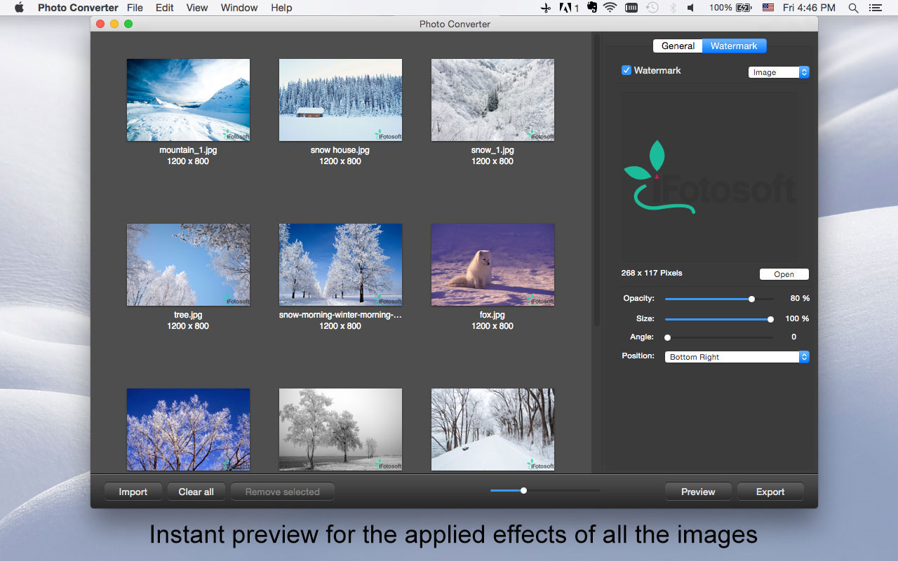 Photo Converter for Mac, Design, Photo & Graphics Software Screenshot