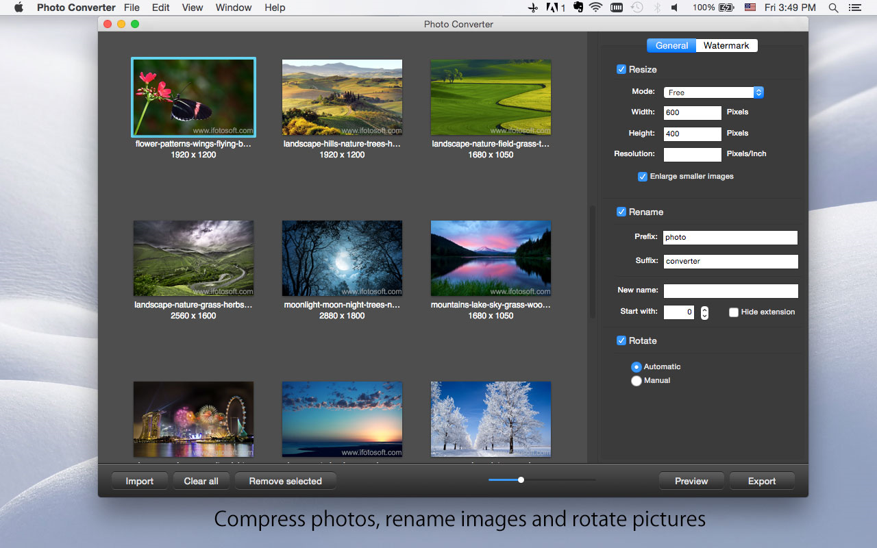 Photo Converter for Mac, Batch Image Software Screenshot