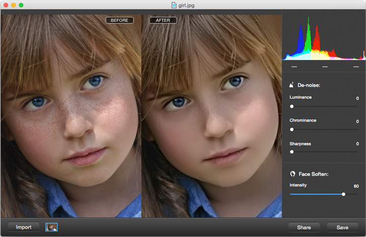 Photo Denoise for Mac, Design, Photo & Graphics Software Screenshot