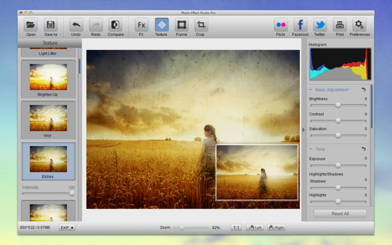 Photo Effect Studio Pro, Photo Editing Software Screenshot