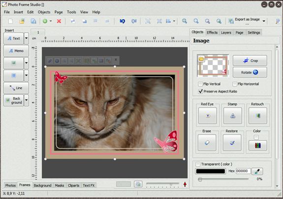 Photo Frame Studio, Photo Frame Software Screenshot