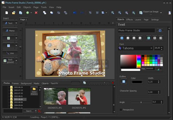Photo Frame Studio, Design, Photo & Graphics Software Screenshot