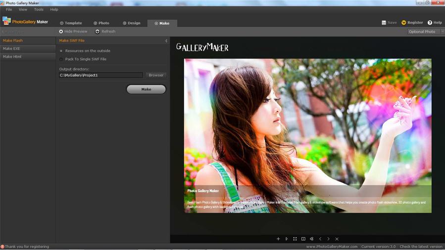 Photo Gallery Maker, Design, Photo & Graphics Software Screenshot