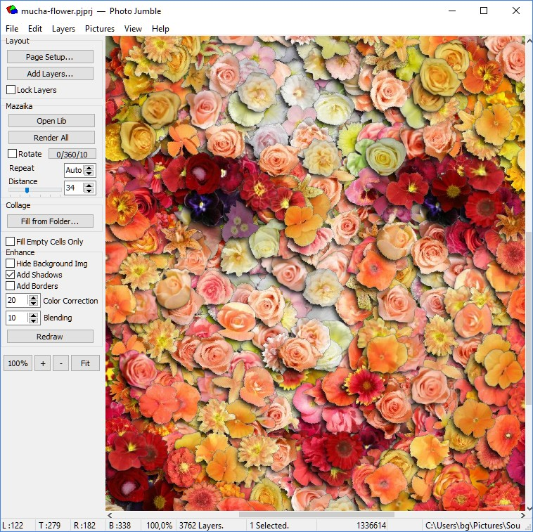 Photo Jumble, Graphic Design Software Screenshot
