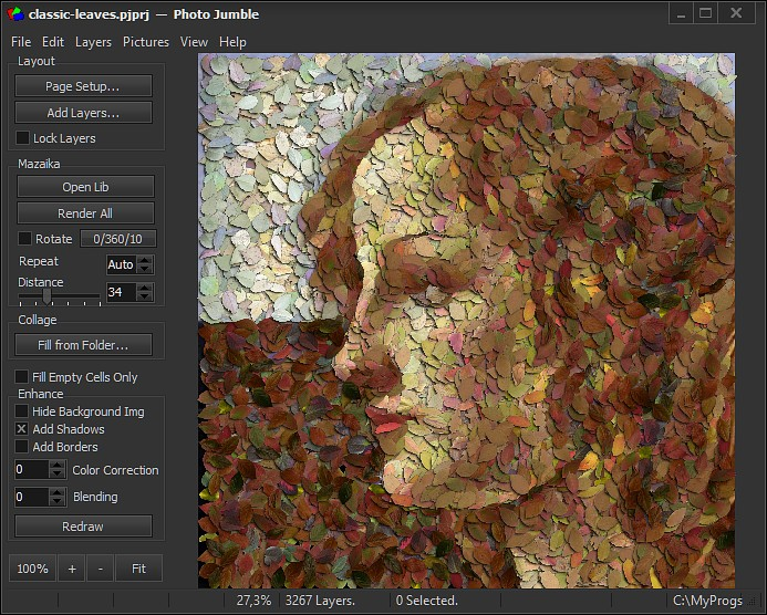 Graphic Design Software, Photo Jumble Screenshot