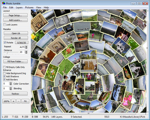 Photo Jumble, Design, Photo & Graphics Software, Graphic Design Software Screenshot