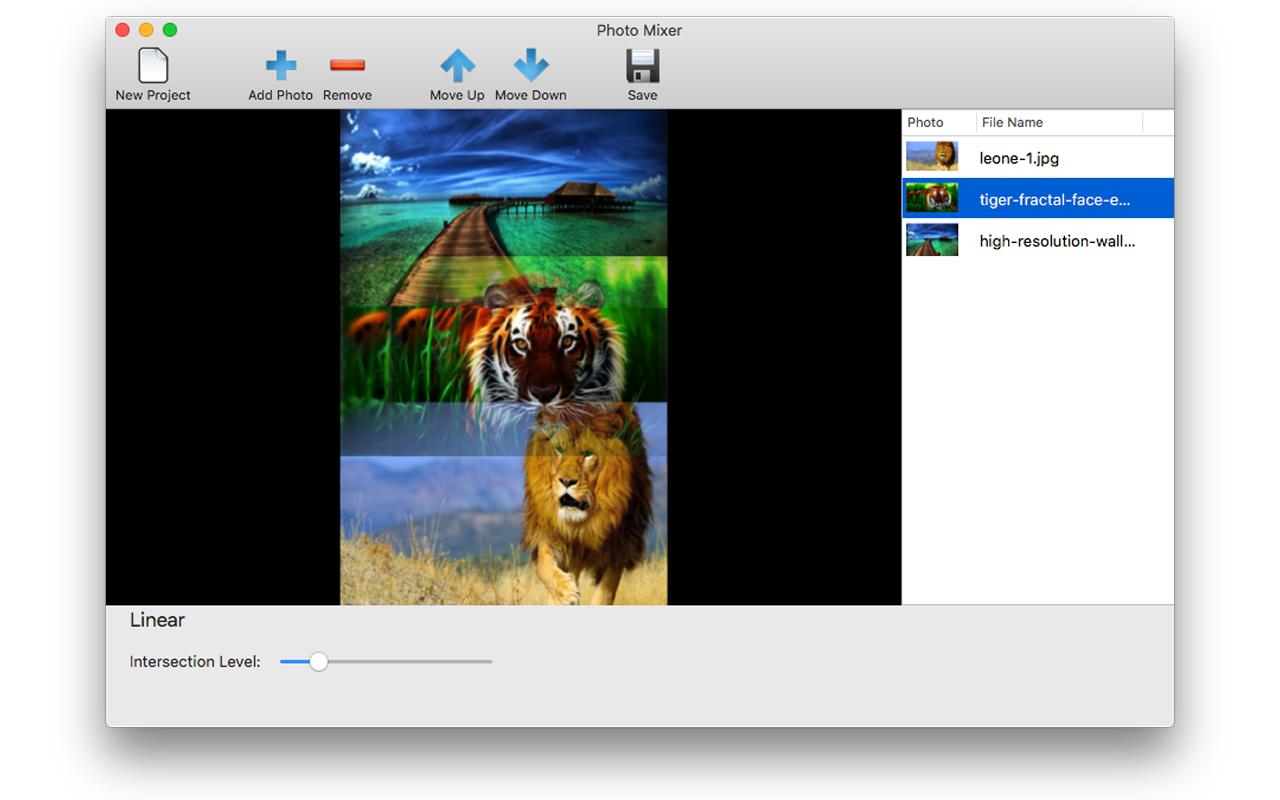 Photo Manipulation Software, Photo Mixer Screenshot
