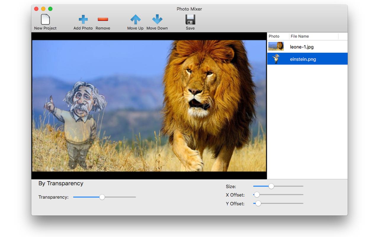 Photo Mixer, Photo Manipulation Software Screenshot